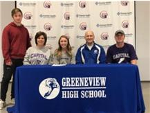 Olivia Maxwell signs to run at Capital University ! Congratulations to the Maxwell Family !