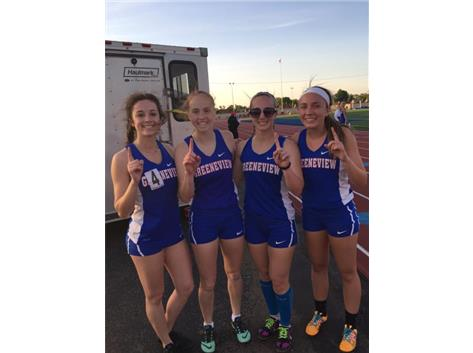 Girls 4 x 400 Relay School Record Holders