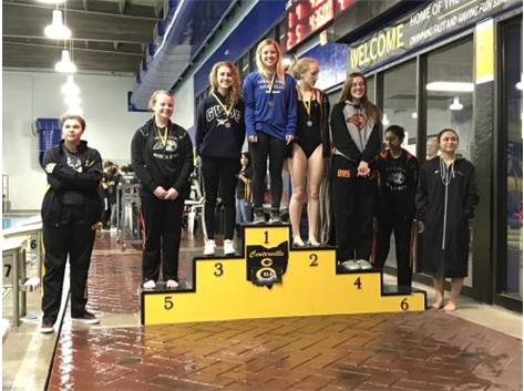 Podium at Centerville Inv Feb 2018