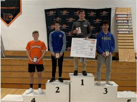 Teagan Hendricks 2nd at Beavercreek Inv. Jan 2020