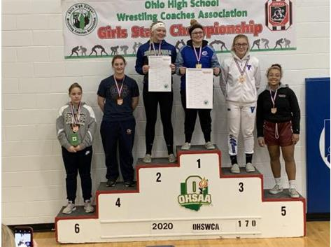Ellie Harlow Girls Wrestling State Champion Feb 2020