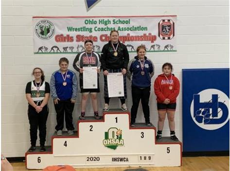 Karlie Harlow Girls Wrestling State 4th Place Feb 2020