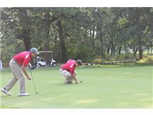 Nick M. and Nick K on the #4 green