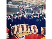 Our cheerleading team won 1st Place for the Small Varsity Division! Congratulations!