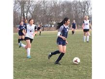 Karen Gutierrez holds the ball looking to go forward