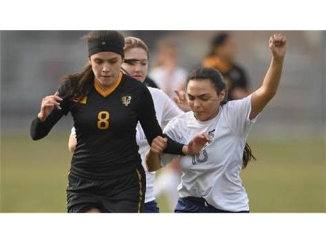 Kate Rodriguez battles an opponent for position (Photo Courtesy of Brian O'Mahoney-Pioneer Press/Chicago Tribune Preps)