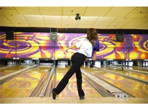 Kayle bowling a Strike