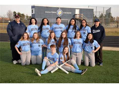 2018-2019 Girls Varsity Softball Team