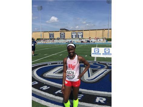 2018 Class 3A 400m dash 5th place finisher Asanti Denton