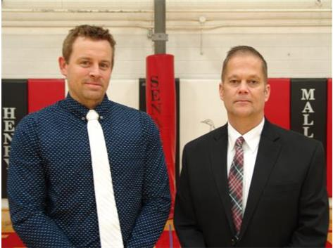 JV Coach Brandon Pettett; Head Coach Steve Self