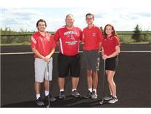 Alex Cilento, Coach Feldker, Manny Lopes, and Haleigh Flaherty