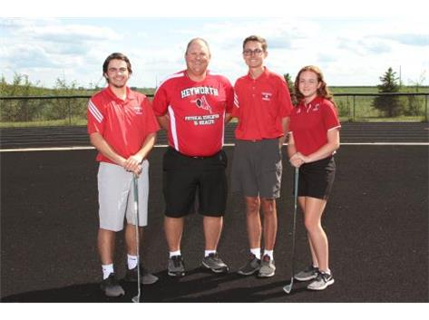 Alex Cilento, Coach Feldker, Manny Lopes, and Haleigh Flaherty