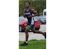 Freshman Kharmen Ward came home with his first medal, after this amazing run.