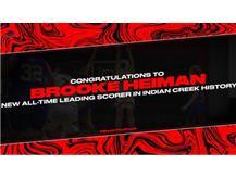 Brooke Heiman breaks Indian Creek scoring record held by Lindsay Richardson.