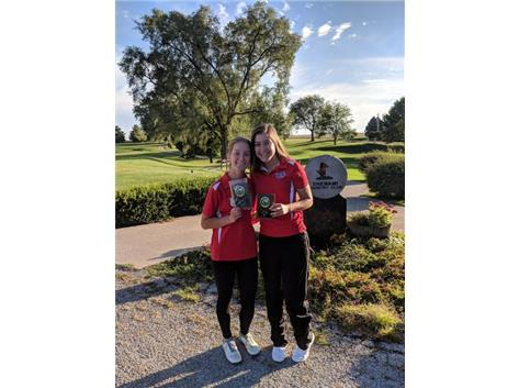 Marissa Pool places 3rd and Georgia Curtis places 4th in the Iroquois County Tournament
