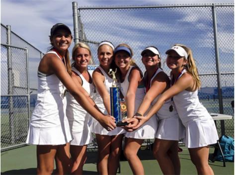 Oswego Tournament Champions Nina Bertino, Madison Wyss, Annie Payne, Katie Payne, Maddie Bauer, McCoy Hutchison