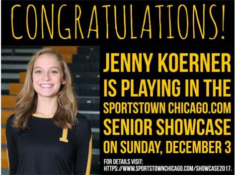 Jeenny Koerner Selected to play in 2017 Senior Shwocase!!!