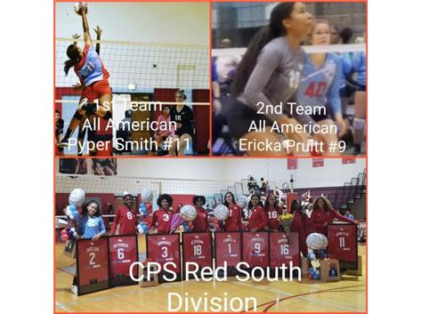 1st Team All American - Pyper Smith. 2nd Team All American - Erika Pruitt