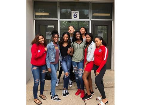Class of 2019: Pyper Smith, Jenniefer Eison, Kamryn Turner, Sarah Favala, Armani McFadden, Erika Pruitt, Destiny Simmons, Caitlyn Taylor