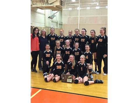2015 7th grade volleyball Regional champs