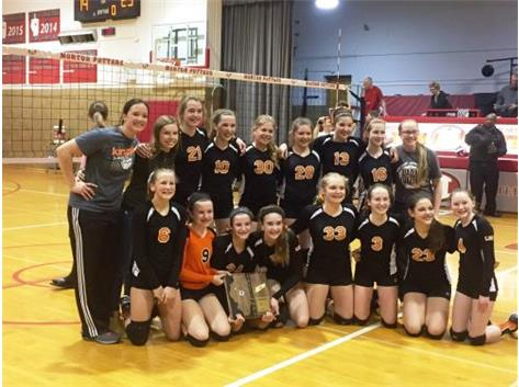 2015-2016 7th Volleyball grade Sectional champs