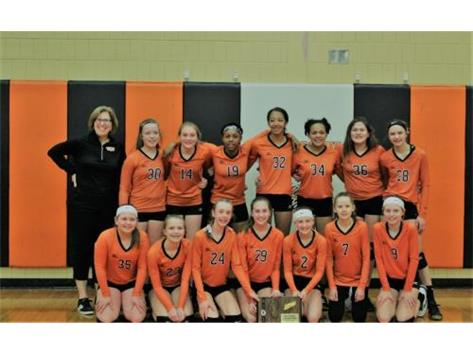 2019 7th grade Volleyball regional champs