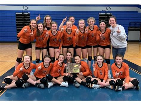 2020 7th grade Volleyball regional champs