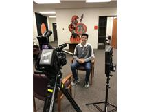 Comcast interview with volleyball player David.
