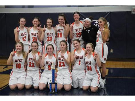 Girls Basketball Oswego East Tourn. Champions