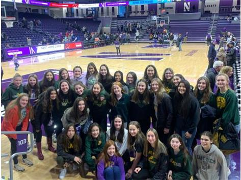 Lane Tech Girls Basketball Program Enjoys the Northwestern vs. DePaul game at Welsh-Ryan Arena