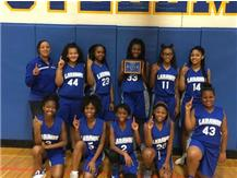1st Laraway Girls' Basketball Team to win J.T.H.S. Tournament!