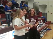 Warren Co. Teen Alliance Council address the crowd about Teen Dating Violence Awareness.
