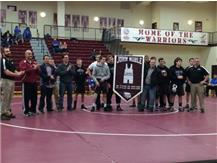 Lebanon Wrestling Alumni Day celebrating the retiring of John Noble's singlet as Lebanon, most decorated wrestler.