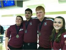 Emily Temple 1st Team, Lance Austin 2nd Team, Seth Hines 1st Team, Bailey Perkins 2nd Team