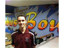 Nick Crase at Wayne Webb's Columbus Bowl prior to beginning of the OHSAA State tournament.