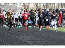 Jordan Campbell on his way to winning the 100 at the Northmont Invite.