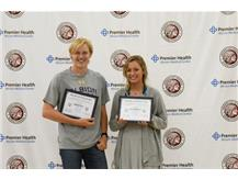 Lauren Patterson and Matthew Jacox OHSAA Award of Excellence