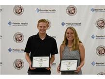 Joel Robison and Hannah Steinke  OHSAA Scholar Athlete Award