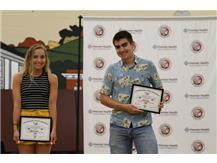 Chloe Larson and Jack Hoyt OHSAA Archie Griffin Sportsmanship Award