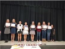 2018 8th Grade Girls CC Scholar Athletes