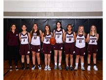 2019-2020 8th grade Girls White Basketball