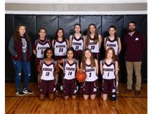 2019-2020 7th grade Girls White Basketball