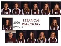 LJHS 8TH GRADE WHITE VOLLEYBALL