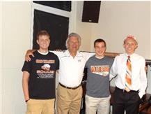 Retiring Head Coach Poitinger with his 2013 Collegiate Signees