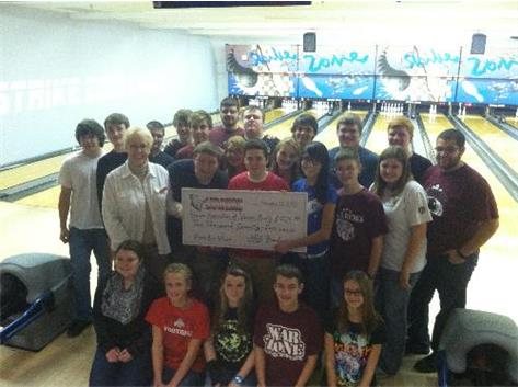 The LHS bowling teams raised a whopping $2775 for the Warren County Humane Association.