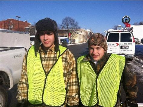 Nate and Ryan helping out at the Lebanon Christmas Festival 2013.
