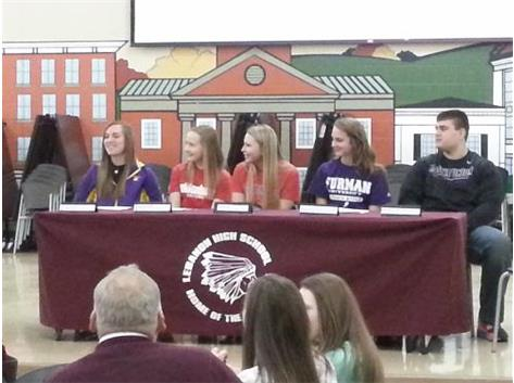 2014 Lebanon High School Winter Signees