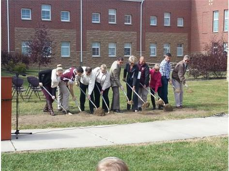 Ground breaking ceremony for new addition at LHS