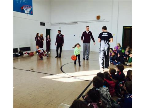 Basketball for Food Relay Race at Louisa Wright ECC