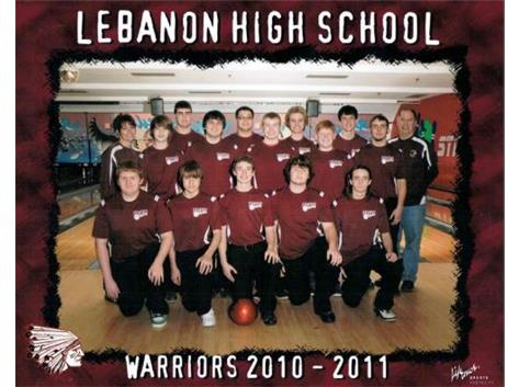 The 2010-2011 LHS Boys team. Justin Leasure (1st kneeling in front row) became the 1st Warrior boy to advance to district play.